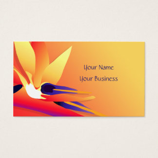 Bird-of-Paradise Tropical Sunset Floral BC Business Card