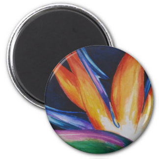 Bird of Paradise Watercolor Art 2 Inch Round Magnet