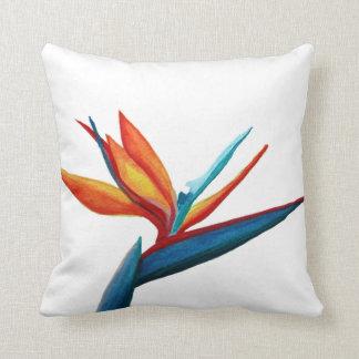 Bird of Paradise Watercolor Pillow