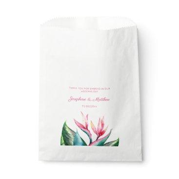 Bird of Paradise Watercolor Tropical Favor Bag