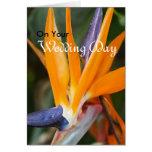 Bird of Paradise Wedding Greeting Card