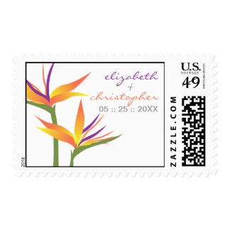 Bird of Paradise Wedding Postage Stamp