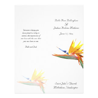 Bird of Paradise Wedding Program