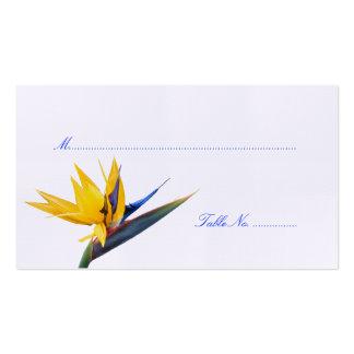 Bird of Paradise Wedding Reception Escort Cards Business Card