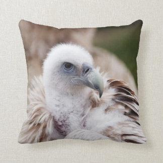 Bird of Prey #7-Vulture Throw Pillows