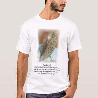 Bird of Prey Photo Bible Verse Scripture Matthew T-Shirt