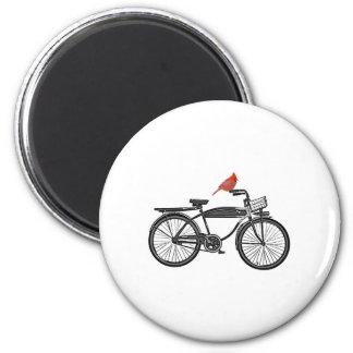 Bird on a Bike 2 Inch Round Magnet