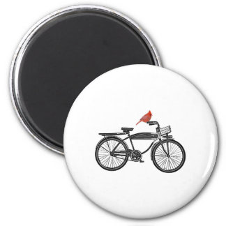 Bird on a Bike Fridge Magnet