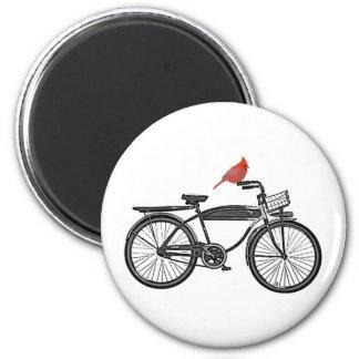 Bird on a Bike Magnet