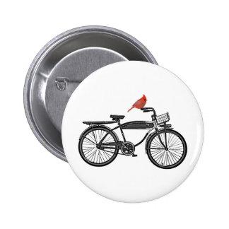 Bird on a Bike Pinback Button