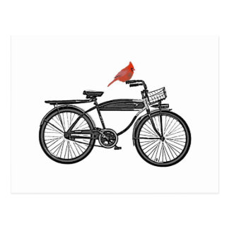 Bird on a Bike Postcard