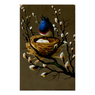 BIRD ON A BRANCH 2 POSTERS