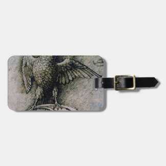 Bird on a branch by Andrea Mantegna Luggage Tag