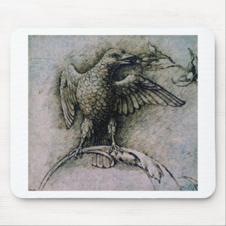 Bird on a branch by Andrea Mantegna Mouse Pad