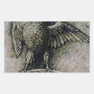 Bird on a branch by Andrea Mantegna Rectangular Sticker