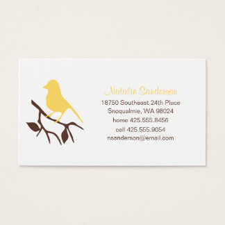 Bird on a Branch Calling Card