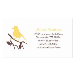 Bird on a Branch Calling Card Business Card