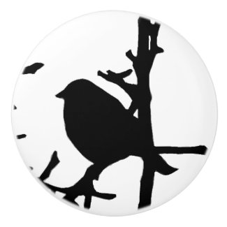 Bird on a Branch Ceramic Knob
