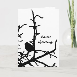 Bird on a Branch Easter Cards