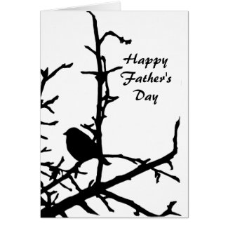 Bird on a Branch Fathers Day Greeting Card