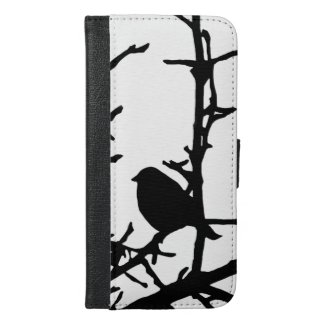 Bird on a Branch iPhone 6 Plus Wallet Case