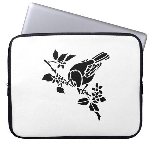 Bird on a Branch Laptop Sleeve