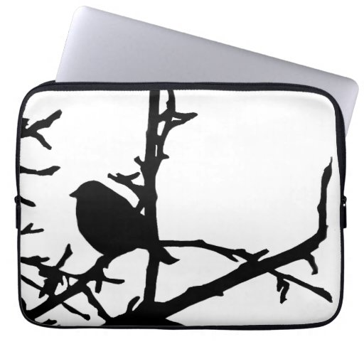 Bird on a Branch Computer Sleeves