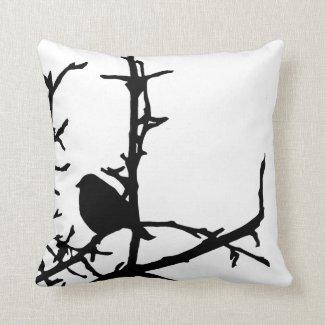 Bird on a Branch Pillow