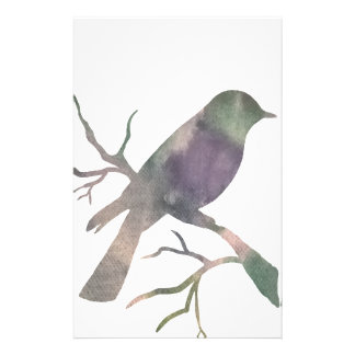 Bird on a branch stationery