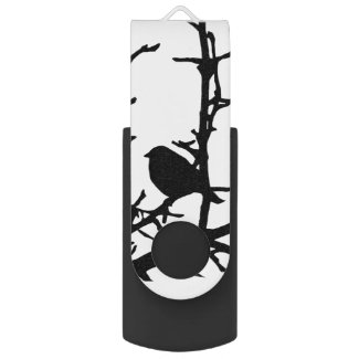 Bird on a Branch Swivel USB 2.0 Flash Drive