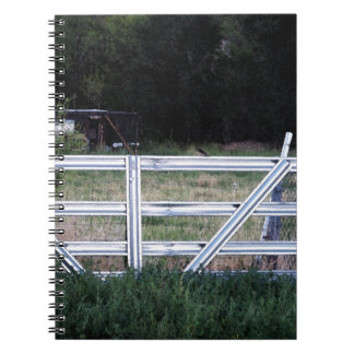 Bird on a Fence Spiral Note Book