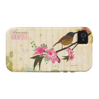 Bird on a floral branch - iphone4  case iPhone 4/4S cover