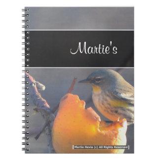 Bird on a Half-Eaten Apple Notebook