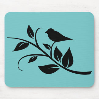 Bird on a Leafy Branch Mouse Pad