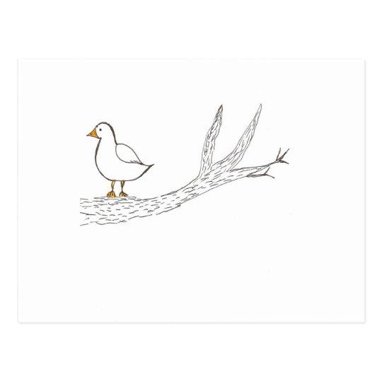 Bird on a Limb Postcard