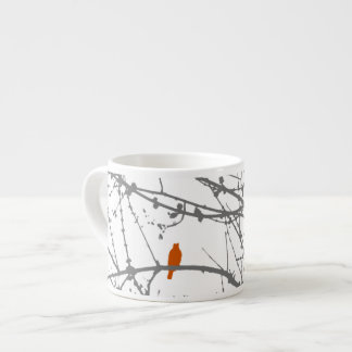 Bird on a Maple Espresso Cup