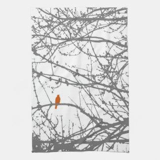Bird on a Maple Kitchen Towels