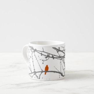 Bird on a Maple Espresso Cups