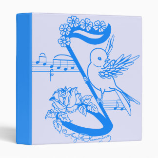 Bird On A Musical Note With Flowers Vinyl Binder