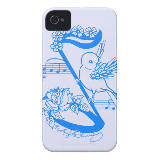 Bird On A Musical Note With Flowers Blackberry Bold Cover