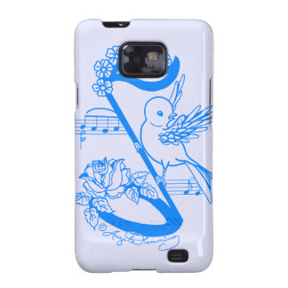 Bird On A Musical Note With Flowers Samsung Galaxy Covers
