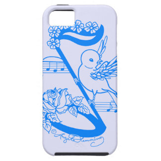 Bird On A Musical Note With Flowers iPhone 5 Covers