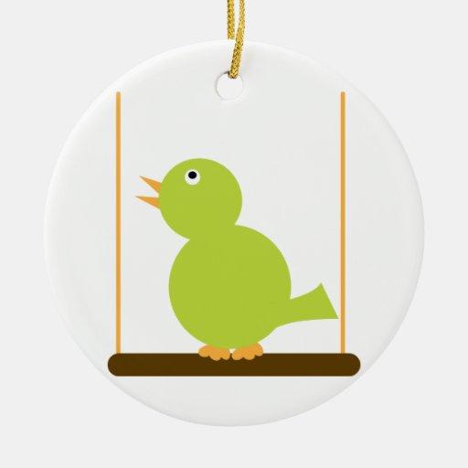 Bird on a Perch Ornament