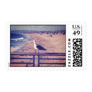Bird On A Rail Stamp