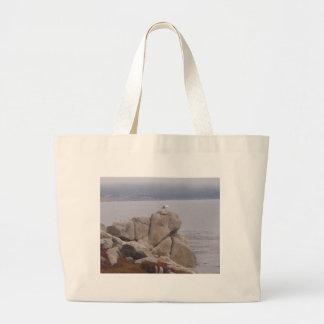 Bird on a Rock Beach Bag