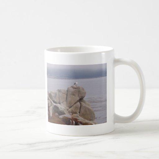 Bird on a Rock Coffee Mug