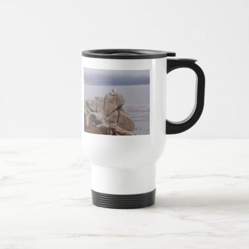 Bird on a Rock Coffee Mugs