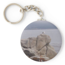 Bird on a Rock Keychain