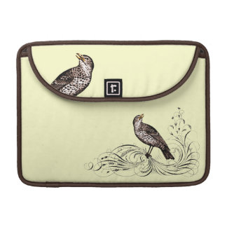 Bird on a Scroll (Brown) MacBook Pro Sleeve