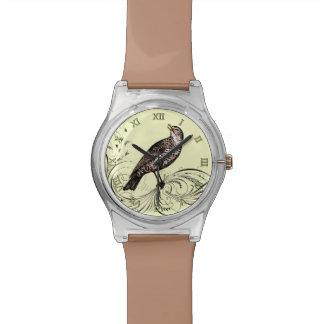 Bird on a Scroll (Brown) Watch